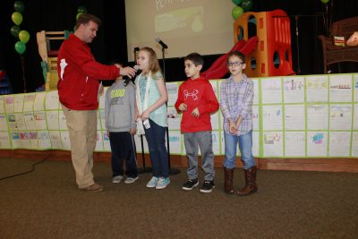 Second graders introducing Mr. Keefer