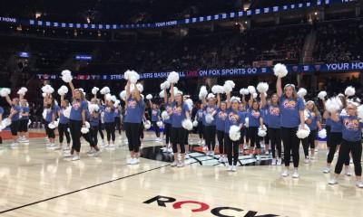 Lancerettes Perform During NBA Halftime